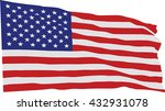usa flag in pop art style ... | Shutterstock .eps vector #432931078