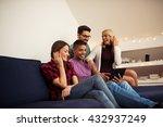 friends enjoying time together... | Shutterstock . vector #432937249
