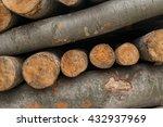 a closeup of a pile of wooden... | Shutterstock . vector #432937969