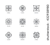 vector set of logo design... | Shutterstock .eps vector #432938980