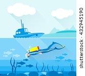 Scuba Diver Exploring Ocean...