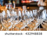 empty wine glasses  abstract... | Shutterstock . vector #432948838