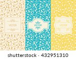 vector set of design elements ... | Shutterstock .eps vector #432951310