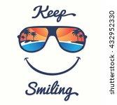 smile sunglasses tropical... | Shutterstock .eps vector #432952330