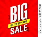big sale banner design template ... | Shutterstock .eps vector #432952939