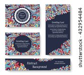 set of old ramadan flyer pages... | Shutterstock .eps vector #432954484