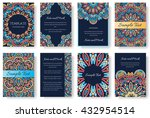 set of old ramadan flyer pages... | Shutterstock .eps vector #432954514