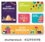 gifts vector banners set  | Shutterstock .eps vector #432954598