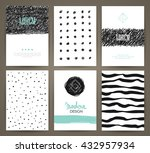 set of brochures with hand... | Shutterstock .eps vector #432957934