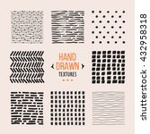 set of hand drawn textures and... | Shutterstock .eps vector #432958318