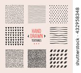 set of hand drawn textures and... | Shutterstock .eps vector #432958348
