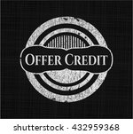 Offer Credit With Chalkboard...