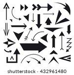 vector set of various arrows... | Shutterstock .eps vector #432961480