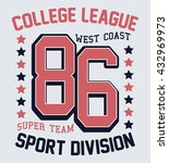college league  sport division... | Shutterstock .eps vector #432969973