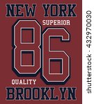 new york  brooklyn sport vector ... | Shutterstock .eps vector #432970030