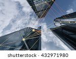 blue tone city scape and... | Shutterstock . vector #432971980