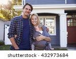 portrait of family standing... | Shutterstock . vector #432973684