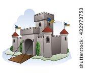 cartoon castle illustration | Shutterstock .eps vector #432973753