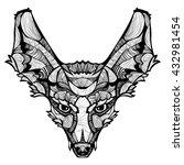 zentangle vector fox.... | Shutterstock .eps vector #432981454