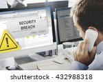 security breach cyber attack... | Shutterstock . vector #432988318