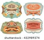vector set vintage labels 6   Shutterstock .eps vector #432989374