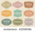 vector set vintage labels 5 | Shutterstock .eps vector #432989386