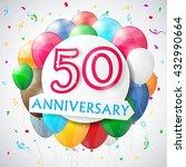 50 years anniversary...   Shutterstock .eps vector #432990664