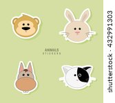 cute animals faces | Shutterstock .eps vector #432991303