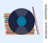 vinyl records. flat design | Shutterstock .eps vector #432995644