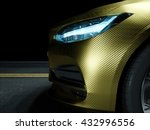 car wrapped in golden carbon... | Shutterstock . vector #432996556