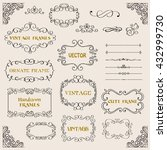 vintage decorative frames and... | Shutterstock .eps vector #432999730