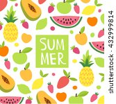 bright summer background with... | Shutterstock .eps vector #432999814