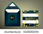 wedding invitation suite.... | Shutterstock .eps vector #433000354