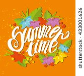beautiful lettering. summer... | Shutterstock .eps vector #433001626