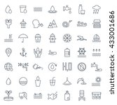 water icon set in thin line... | Shutterstock .eps vector #433001686