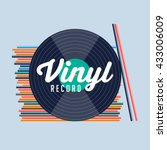 vinyl record. vinyl records... | Shutterstock .eps vector #433006009