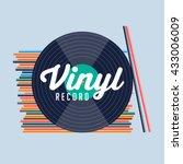 vinyl record. records shop.... | Shutterstock .eps vector #433006009