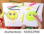 the development of emotional... | Shutterstock . vector #433012900