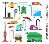 professional cleaning equipment ... | Shutterstock .eps vector #433024768