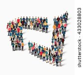 abstract business symbol people | Shutterstock .eps vector #433028803