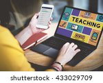 teaching tutoring teacher... | Shutterstock . vector #433029709