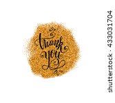 thank you hand lettering on... | Shutterstock .eps vector #433031704