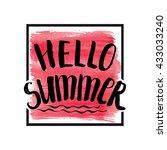 summer calligraphic design... | Shutterstock .eps vector #433033240