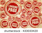 landing page  red stamp on a...