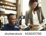 business people discussion... | Shutterstock . vector #433035700