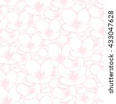 floral seamless pattern with... | Shutterstock .eps vector #433047628