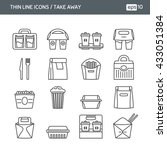 set with thin line icons. fast... | Shutterstock .eps vector #433051384