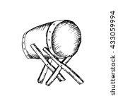 bedug. sketchy style. | Shutterstock .eps vector #433059994