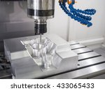 machining precision part by cnc ... | Shutterstock . vector #433065433