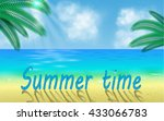 beach accessories for summer... | Shutterstock .eps vector #433066783